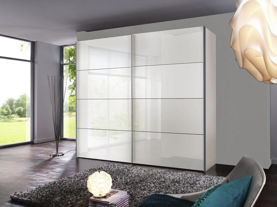 EXPRESS Šatní skříň s posuvnými dveřmi FOUR YOU bílý lak