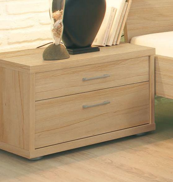 RAUCH Noční stolek Plus-2, 2-šuplíky, přírodní buk