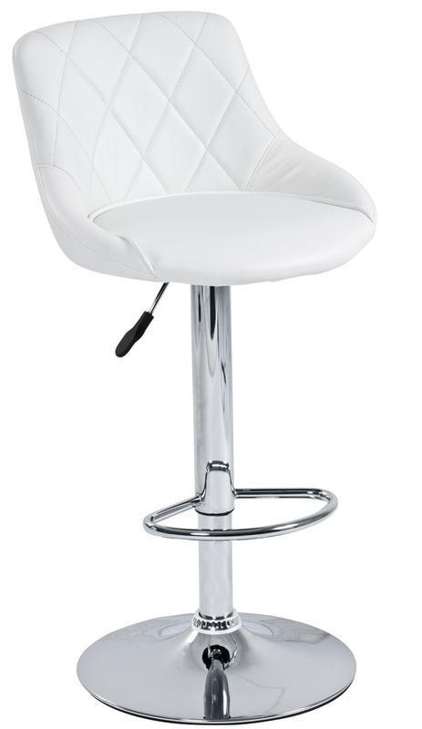 LIVING Barová židle Elena, chrom/ bílá