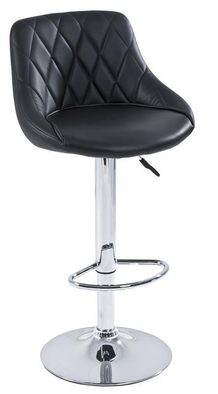 LIVING Barová židle Elena, chrom/ černá