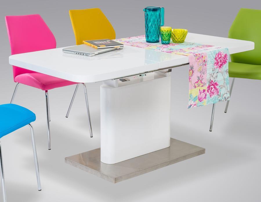Jídelní stůl Andrea, vysoký bílý lesk