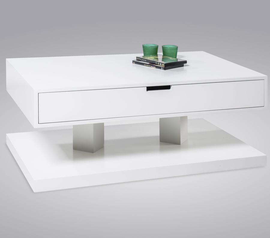 LIVING Konferenční stolek Hendrik, vysoký bílý lesk
