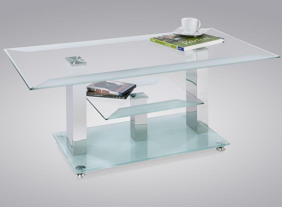 LIVING Konferenční stolek Teresa, saténové sklo