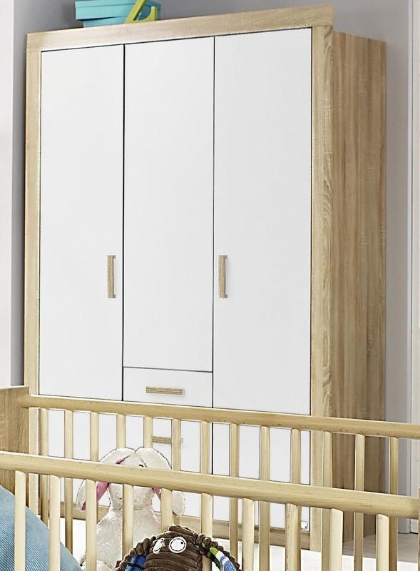 RAUCH Skříň s otočnými dveřmi Marie, Sonoma dub/ alpin bílá