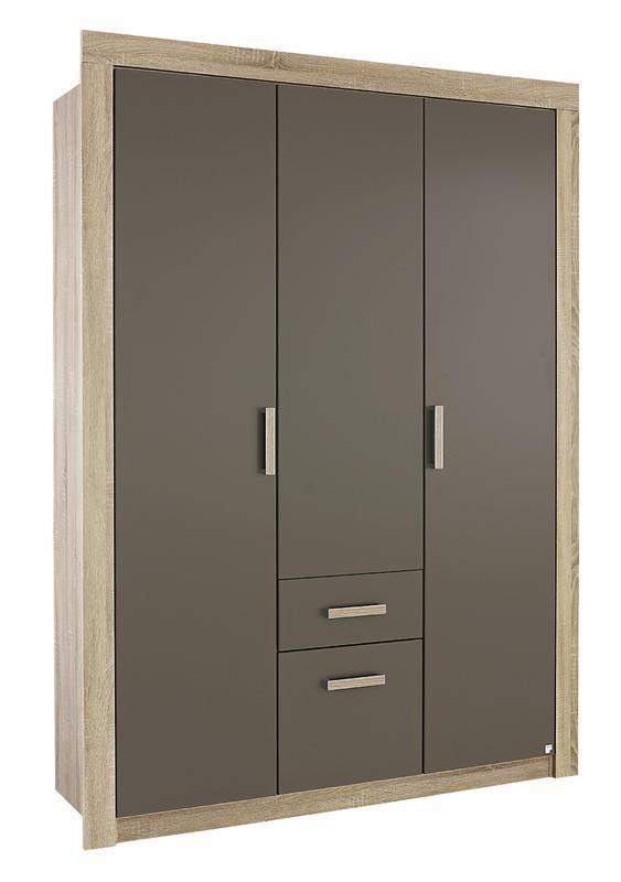 RAUCH Skříň s otočnými dveřmi Marie, Sonoma dub/ lávově šedá